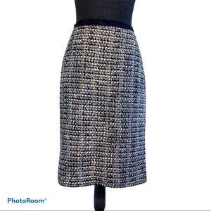 J. Crew Tweed Wool No2 Pencil Skirt 10